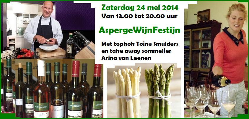 Wijn en Asperges Festijn op wijngaard De Reeborghesch